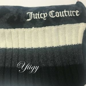 Juicy Couture Scarf + Hat Set Black Wool / Cotton